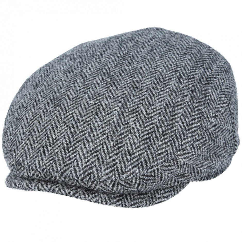 Harris Tweed Flat Cap in Light Grey