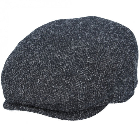 Harris Tweed Flat Cap in Dark Grey