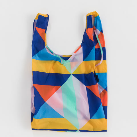 BAGGU Standard BAGGU re-usable shopping bag in Quilt Block
