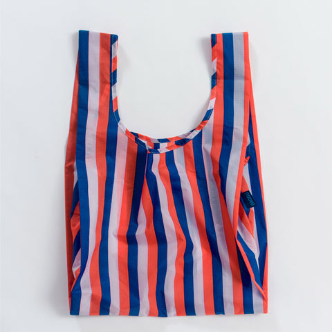 BAGGU Standard BAGGU re-usable shopping bag in Red 90s Stripe