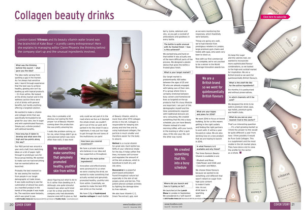 Vitness collagen drink: Beverage Innovation Magazine