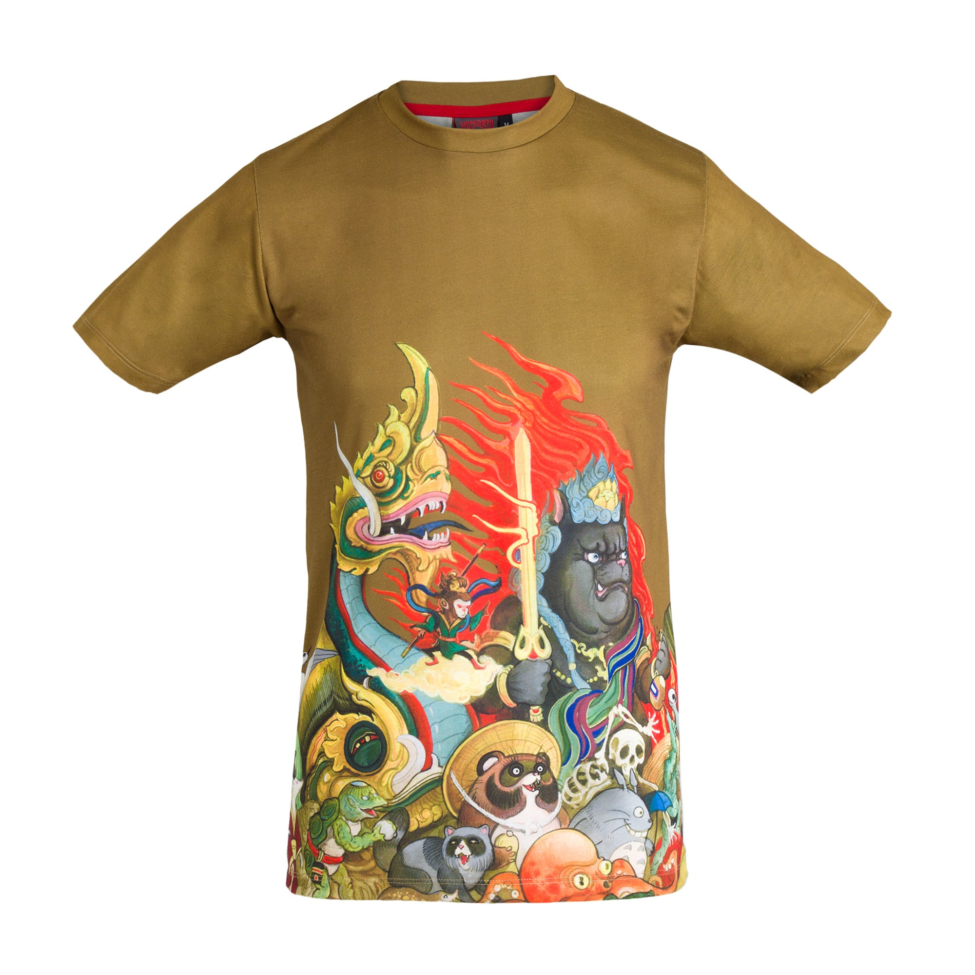 T-Shirt Hundred Demons - Green Gold - Slim fit