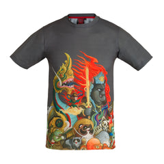 Hundred Demons T-Shirt - Gray Slim fit !