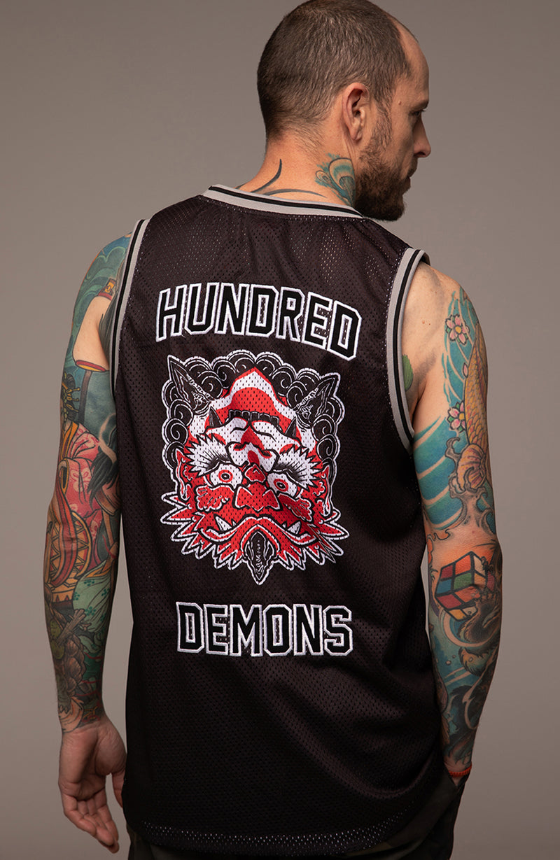 T-Shirt Basketball Oni by Diego Rodriguez for Hundred Demons