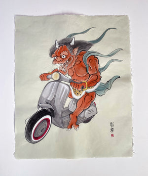Original Art - Biker Oni by Jee Sayalero
