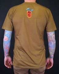 Hundred Demons T-Shirt - green gold Slim fit !