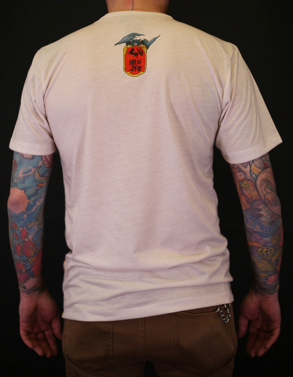 Hundred Demons T-Shirt - Cream Slim fit !