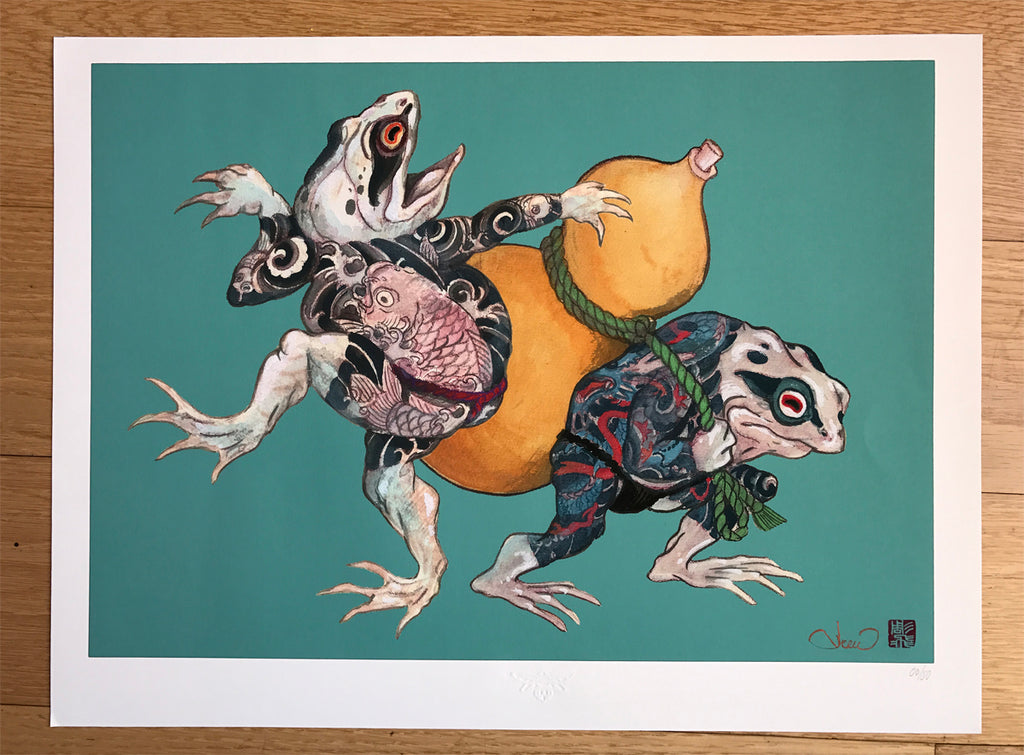 Print Edo Frogs by Jee Sayalero - Limited edition
