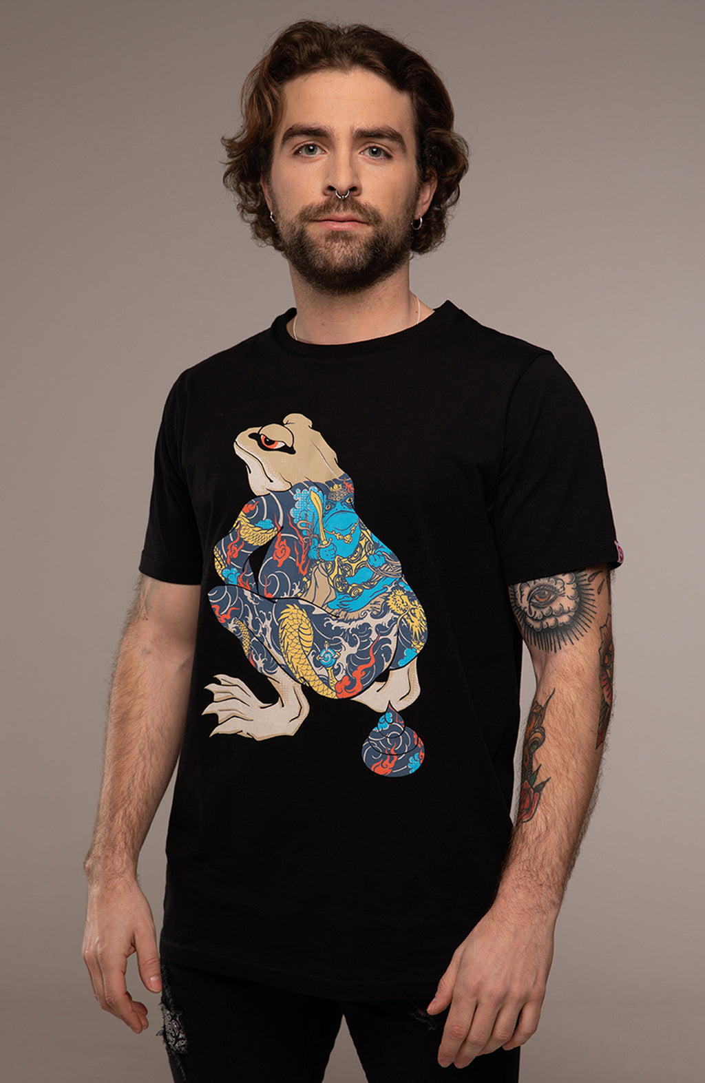 T-Shirt Shiting Frog Black -
