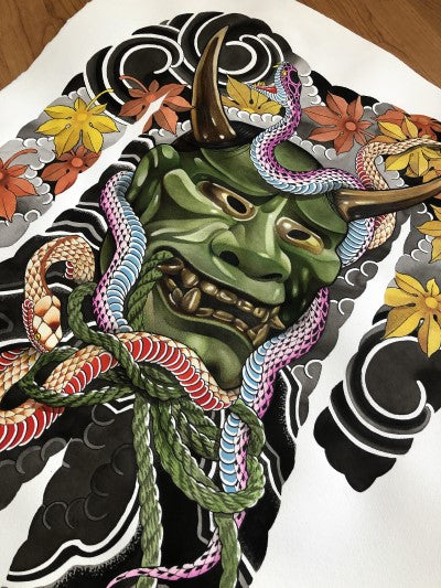 Print Hannya - Art Fusion by Yosmar and Diego