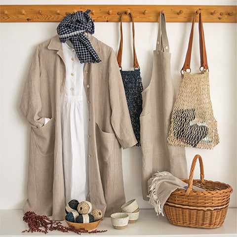 linen duster coat and apron