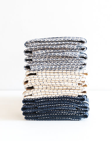 stacked linens from Karin Carlander
