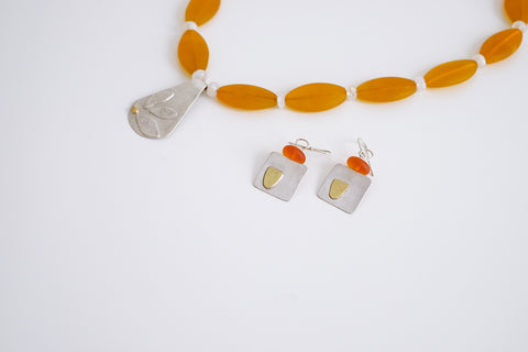 Duibhne Gough necklace and earrings