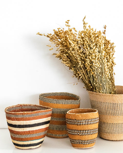 Kenyan baskets for The Basket Room