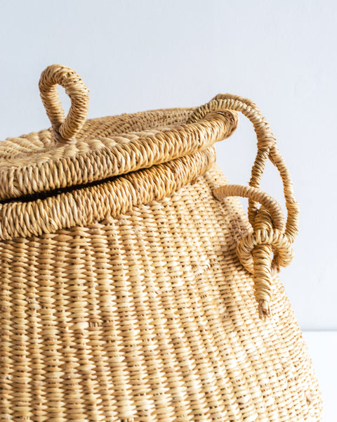 The Basket Room lidded basket