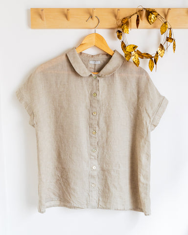fog linen work blouse