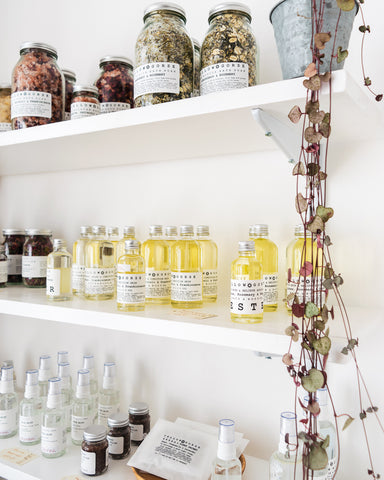 Yellow Gorse botanicals on the shop shelves