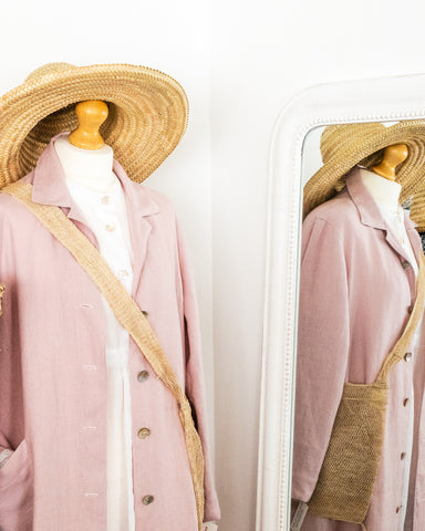 pink linen coat dress from Handworked