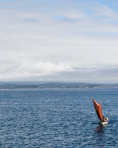 sailing into Newlyn harbour