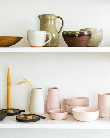 ceramic shelves