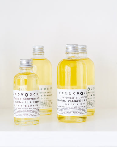 bath and body oils from Yellow Gorse