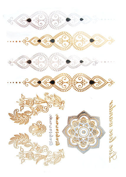 Gold and Silver Indian Tattoos