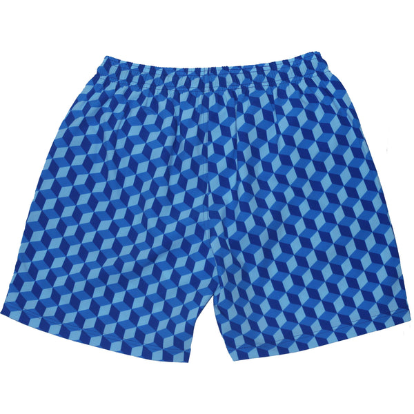 Men's Blue Blocks Swimshort - Houndsditch - 2