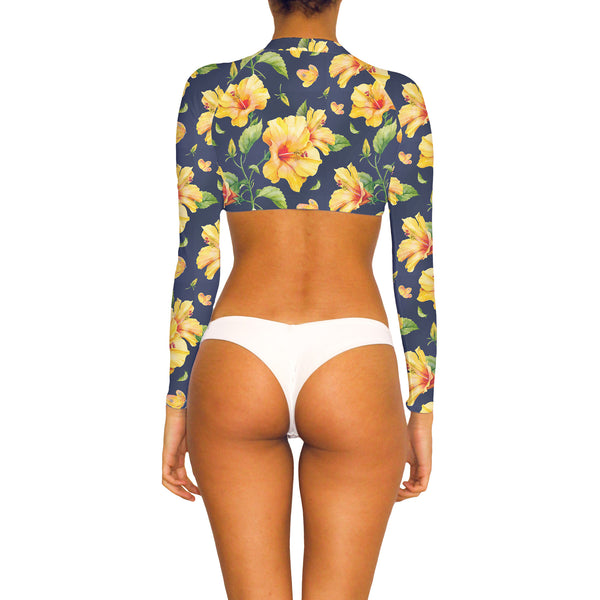Flora Crop Top Rash Guard