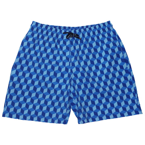 Men's Blue Blocks Swimshort - Houndsditch - 1