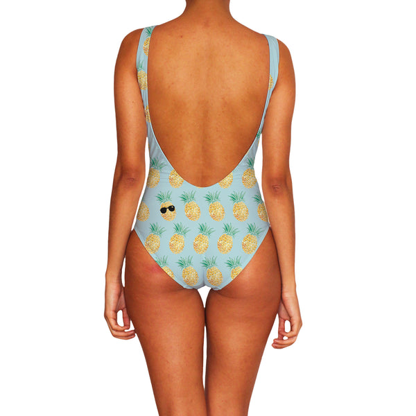 Cool Pineapple One Piece Swimsuit