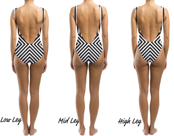 Stripe a Pose One Piece Swimsuit - Houndsditch - 3