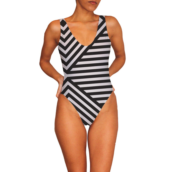 Stripe a Pose One Piece Swimsuit