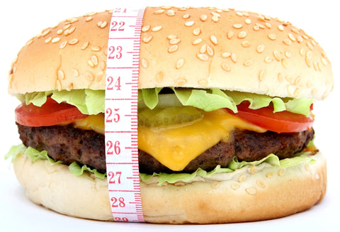 Appetite control- Cheeseburger wrapped in tape measure