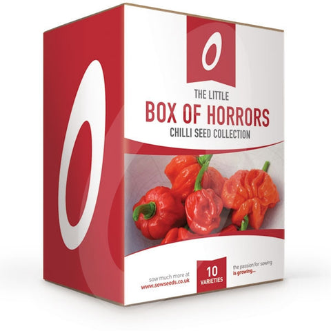 The Little Box of Horrors Chilli Seed Collection Box