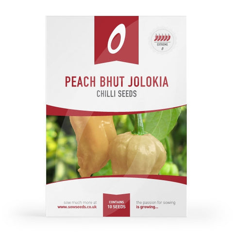 Peach Bhut Jolokia Chilli Seeds