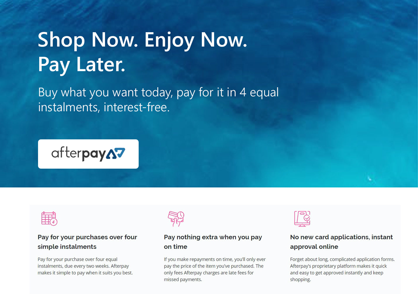 How it works | Shop now, pay later with Afterpay