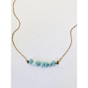 Amazonite Gem Necklace - Deluxur Jewellery