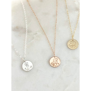 Amore Initial and Date Necklace-Deluxur