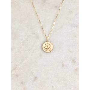 Amore - Initial and Date Necklace-Deluxur