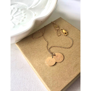 "(Wholesale) 15"" Double Disc Necklace - Deluxur Jewellery"