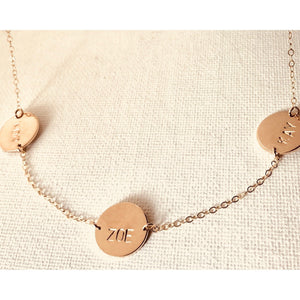 Multi Disc Name Necklace - Deluxur Jewellery
