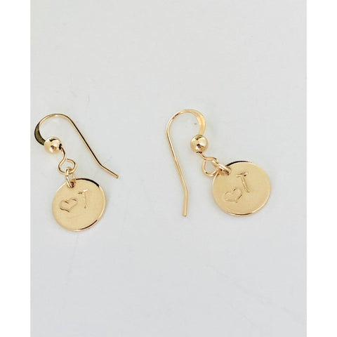Mia - Initial Disc Earrings - Deluxur Jewellery