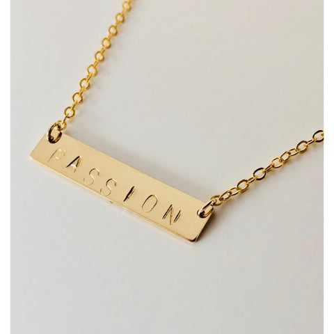 Passion Bar Necklace - Deluxur Jewelry