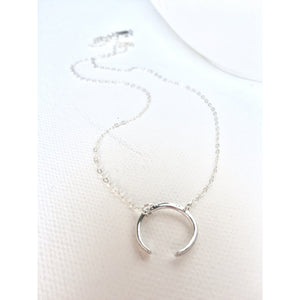 Moon Crescent Necklace - Deluxur Jewellery