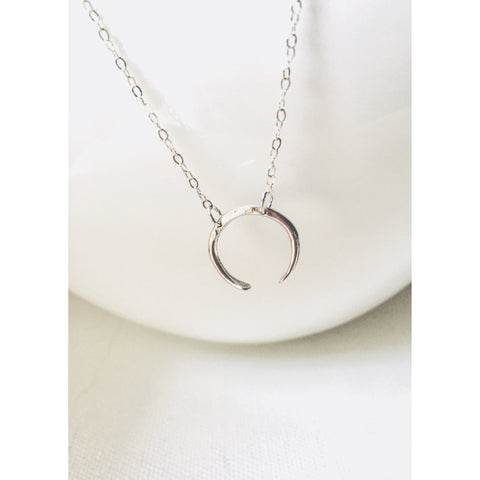 Moon Crescent Necklace - Deluxur Jewelry