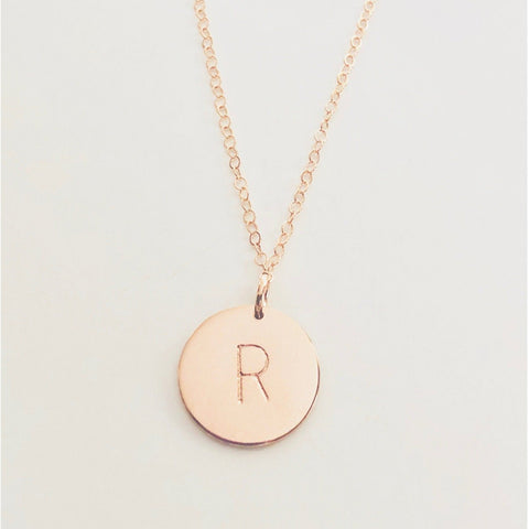 Rose Gold Initial Necklace - Deluxur Jewelry