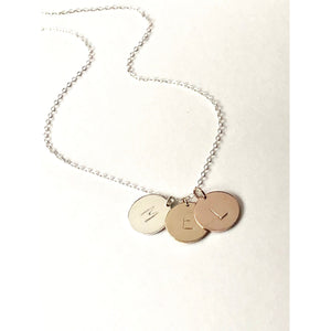 Palermo Three Metals Necklace-Deluxur