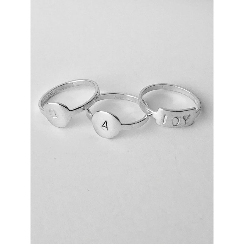 Dainty Personalised Ring - Silver-Deluxur