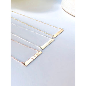 Initial Bar Necklace-Deluxur