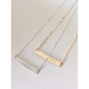 Initial Bar Necklace - Deluxur Jewellery